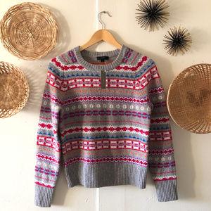 J. Crew NWT Fair Isle Sweater